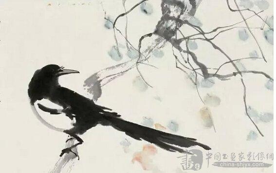 喜鹊是人们喜爱的鸟类之一,它喜欢生活在人类居住区,并在民宅旁的大树上筑巢,是吉祥好运的象征。喜鹊的头、颈、背至尾均为黑色,并自前往后呈现紫色、绿蓝色、绿色等光泽;翅黑色,翼肩有白斑;以胸百家乐为界,前黑后白。喜鹊属于杂食性鸟类,捕食蝗虫、蛾和蛙类等小型动物,也食谷物、植物种子、瓜果等。    1先用小笔沾浓墨勾画出喜鹊的嘴部,染花青色,以朱砂点舌。    2用大笔浓墨画出头部,而后再点出眼睛。    3大笔淡墨配上浓墨涂画喜鹊的背部。    4依然是大笔浓墨,画喜鹊的胸部、腿部,然后以小笔沾淡墨