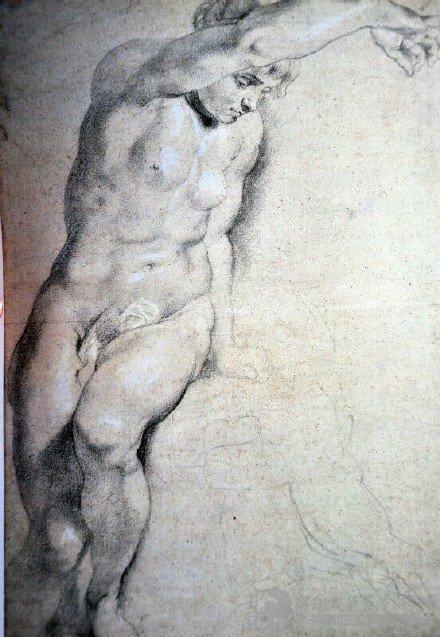 古代大师素描中的典范鲁本斯图片