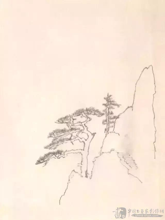 欣赏:看看大师李可染的铅笔山水画